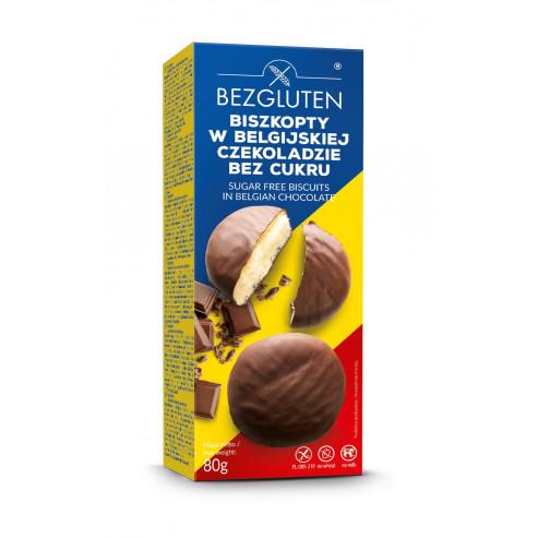 Kekse in belgischer Dessert Schokolade ohne Zuckerzusatz