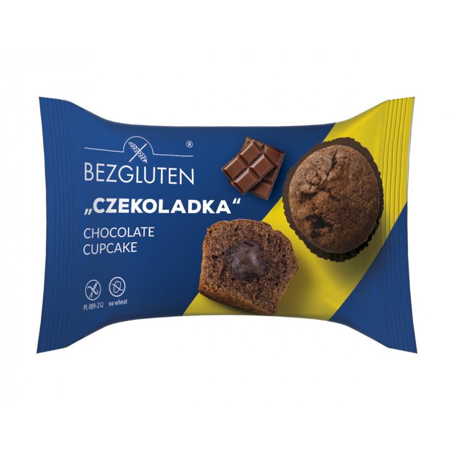 """""""Czekoladka""""- Glutenfreie Kakao-Cupcakes aus Biskuitteig mit Dchokofüllung"""