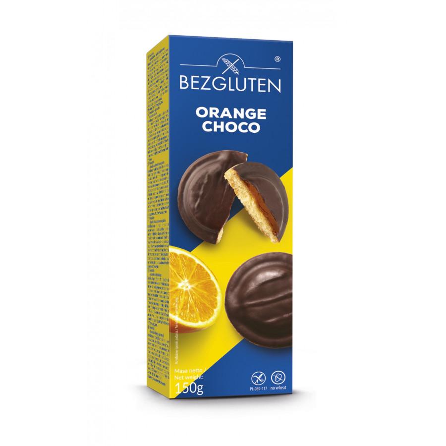 Orange Choco - biszkopty z galaretką pomarańczową w czekoladzie. Produkt bezglutenowy.