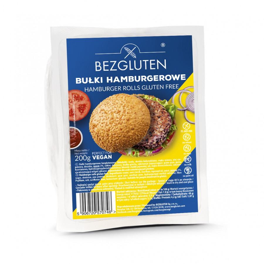 Bułki hamburgerowe bezglutenowe