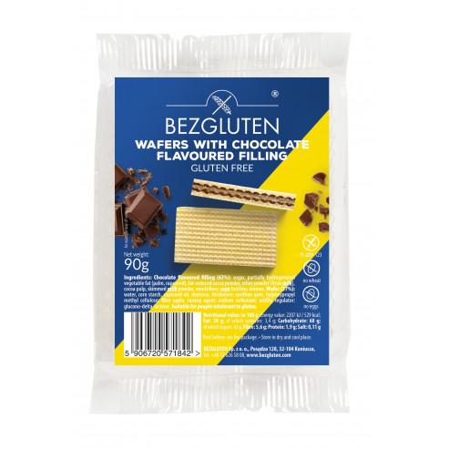 Waffeln mit Schokoladenfüllung. Glutenfrei.