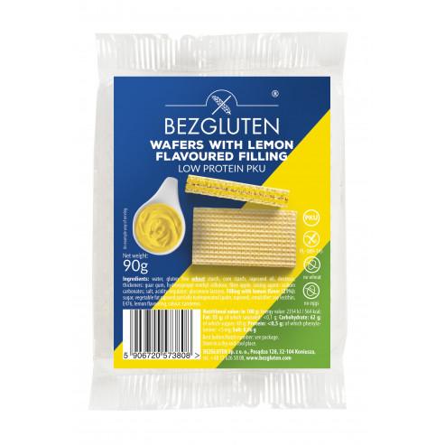 Eiweißarme gefullte Waffelen mit Zitronengeschmack